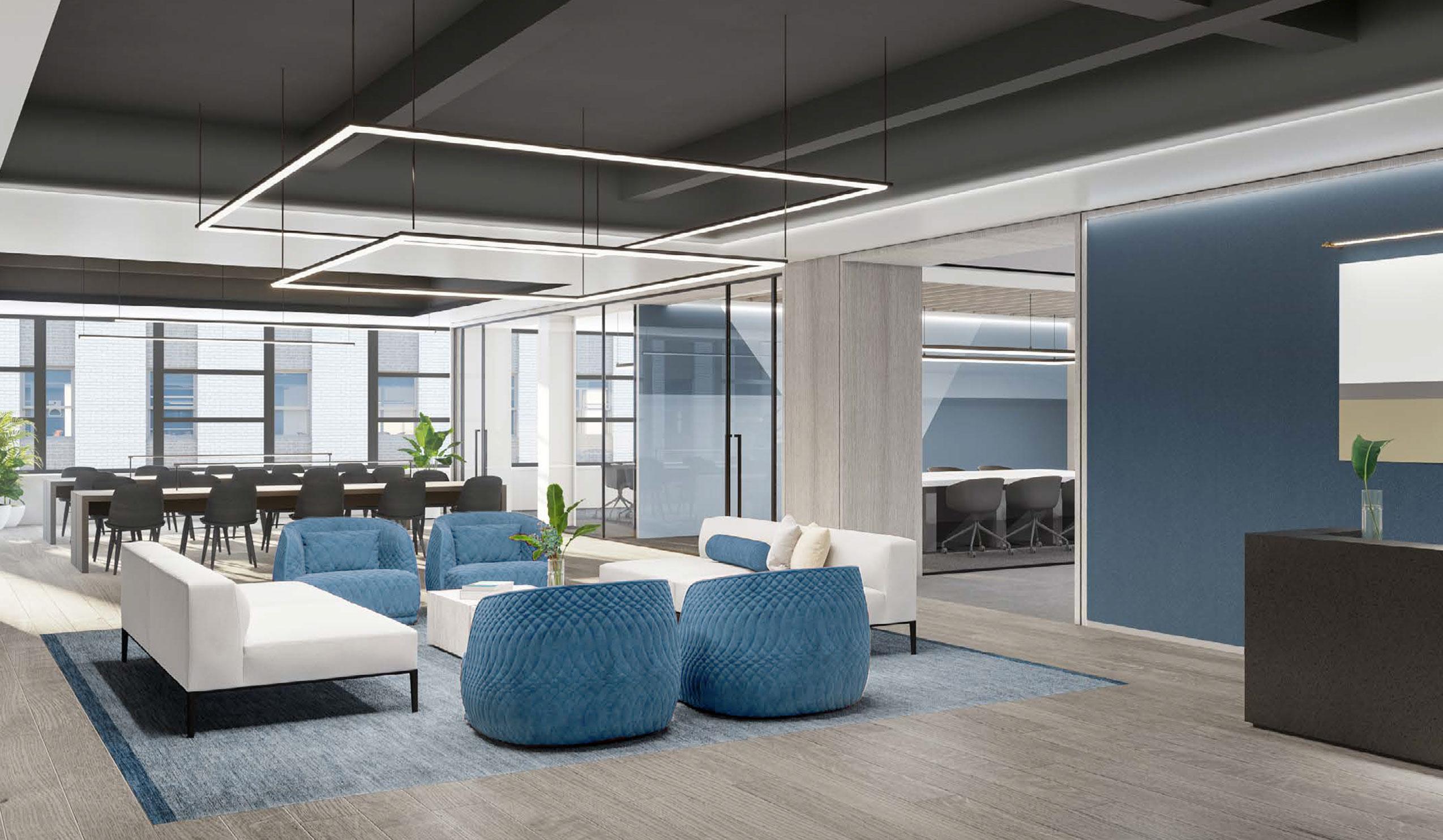 Artist Rendering meeting rooms 80 Pine