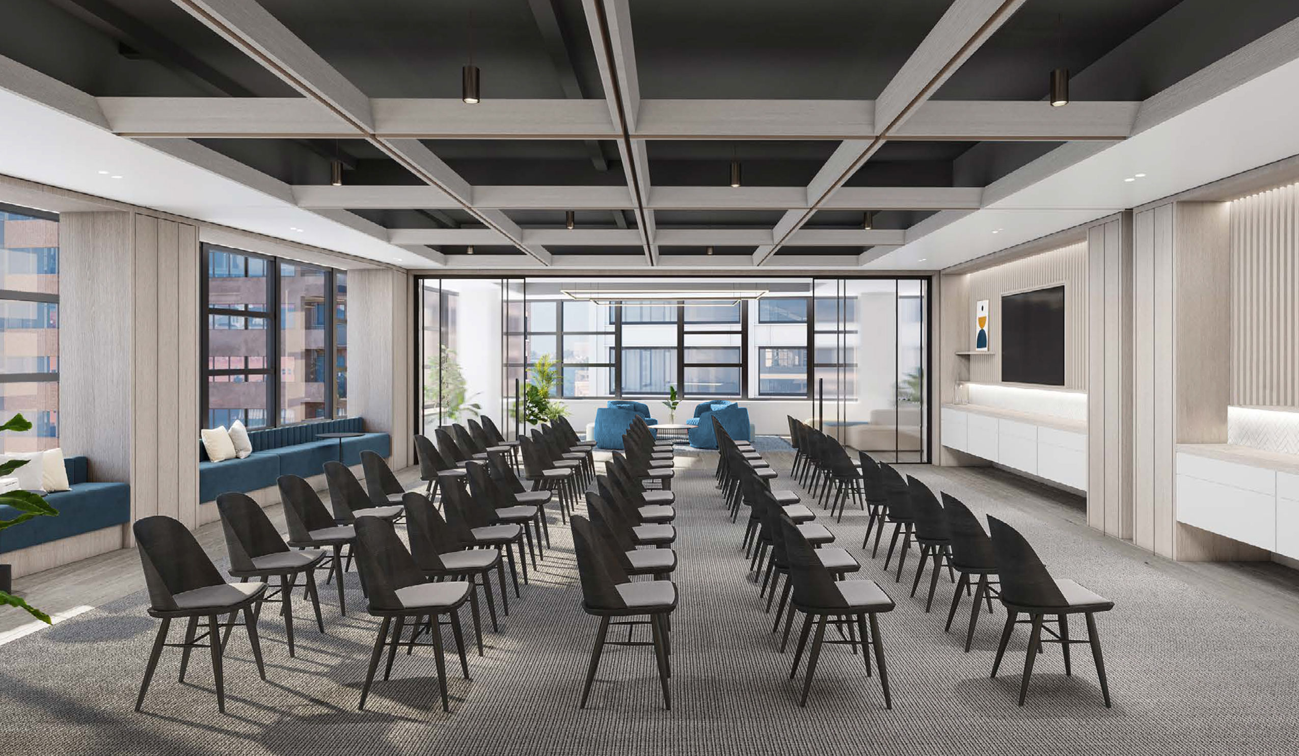 Artist Rendering conference room 80 Pine