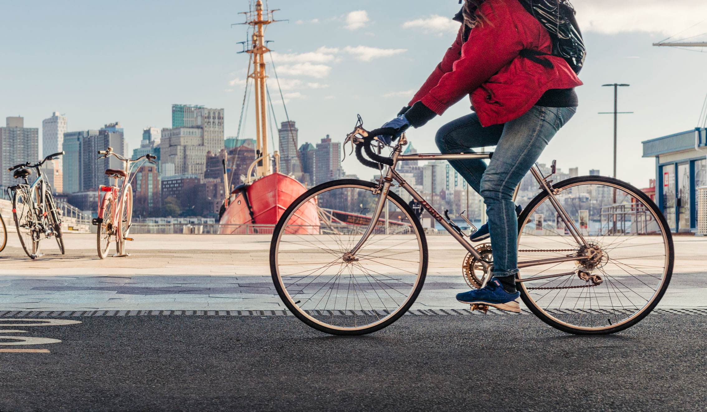 man riding bicycle 80 Pine