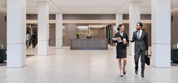 main lobby 80 Pine